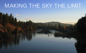 Making the sky the limit. (View from Spokane.)