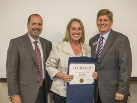 From Left: WASA 110 President Larry Francois, Kelly Munn, and Issaquah School District Superintendent, Ron Thiele