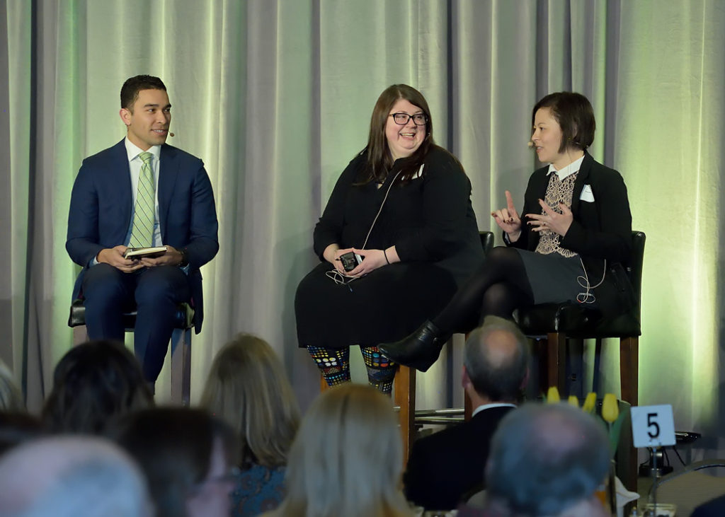 League of Education Voters 2017 Annual Breakfast - Daniel Zavala, Elizabeth Loftus and Kendra Yamamoto