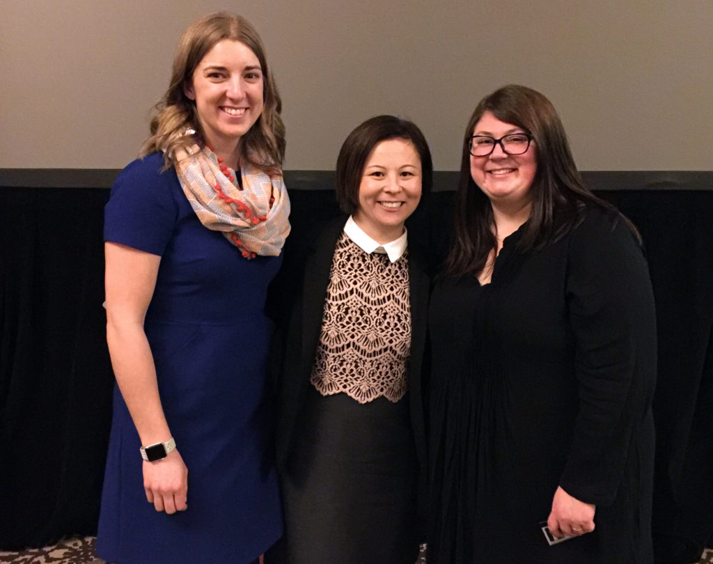 League of Education Voters 2017 Annual Breakfast - 2017 Washington state Teacher of the Year Camille Jones (L) and Regional Teachers of the Year Elizabeth Loftus and Kendra Yamamoto