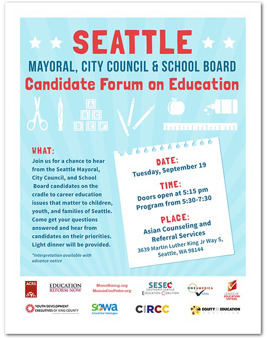 Seattle Ed Forum Flyer